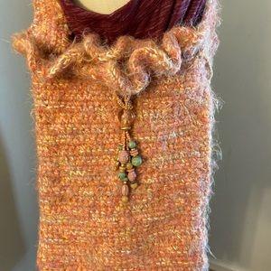 Shrimp Toned Handmade Crossbody Bag